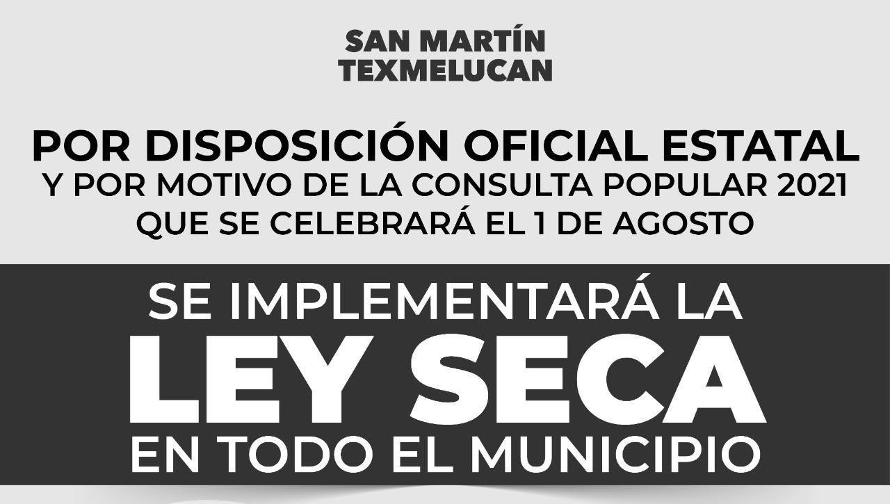 Por decreto estatal, San Martín Texmelucan tendrá Ley Seca