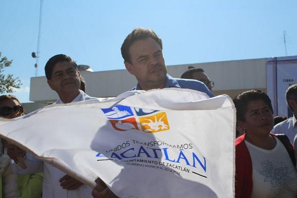Marcos Flores inicia obra en Zacatlán por más de 4.5 mdp