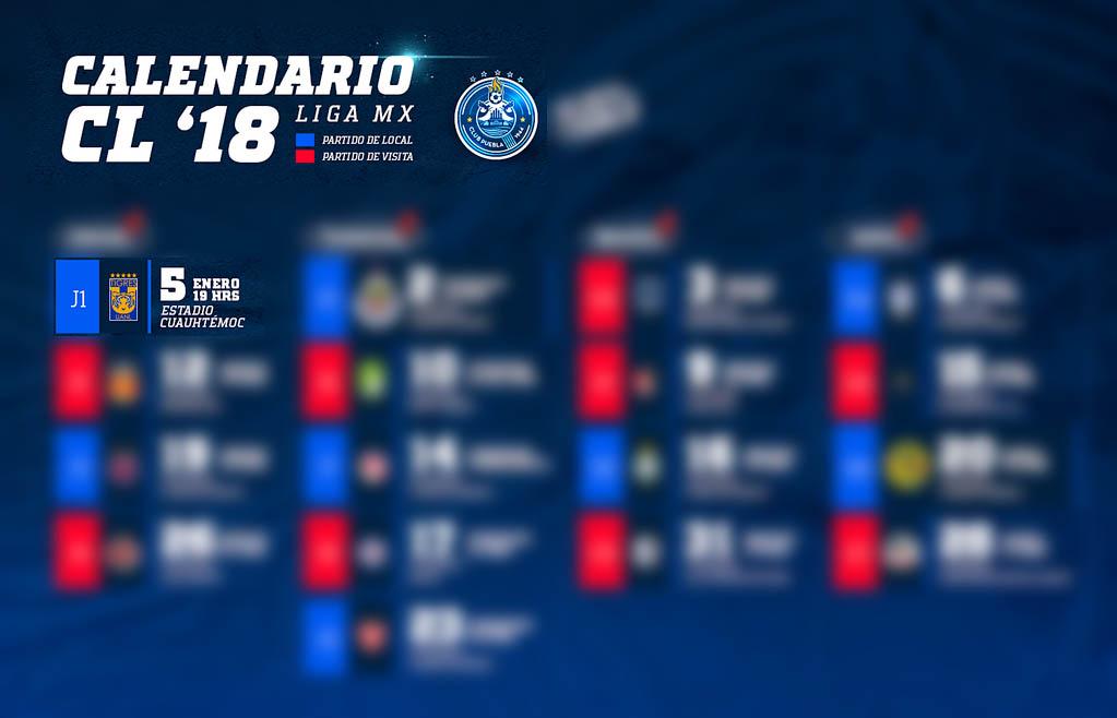 Puebla iniciará el Clausura 2018 ante el campeón Tigres