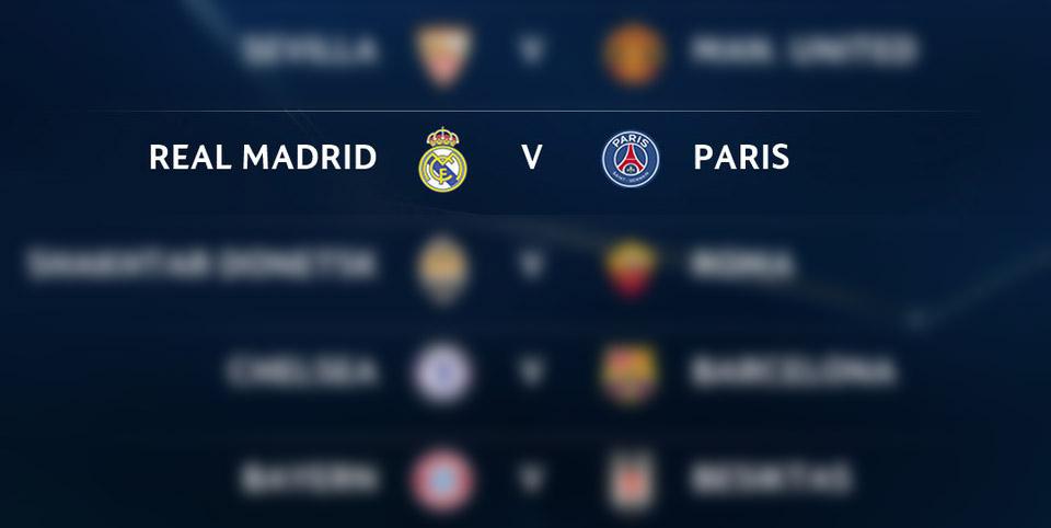 Sorteo Champions League: PSG ante Real Madrid