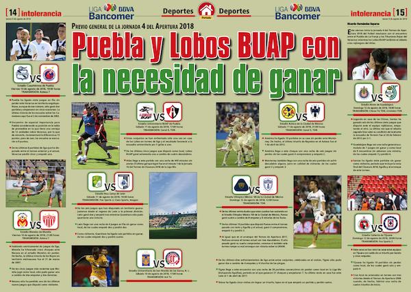 Puebla y Lobos Buap con la necesidad de ganar