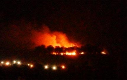 Arde el cerro Zapotecas