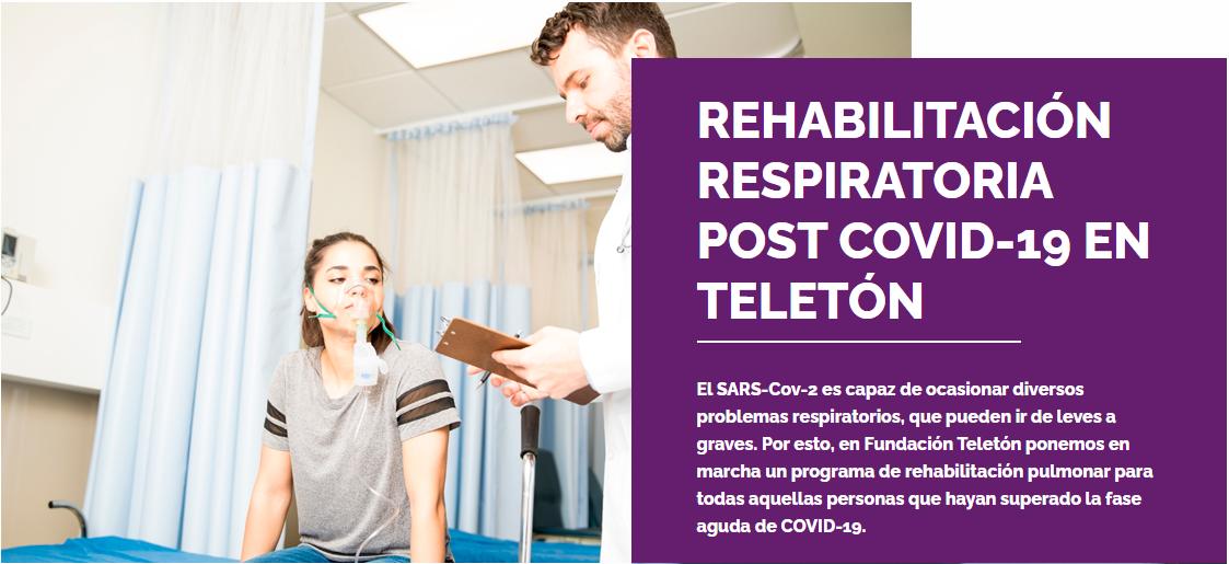 Rehabilitación respiratoria, la apuesta de Teletón ante el Covid-19