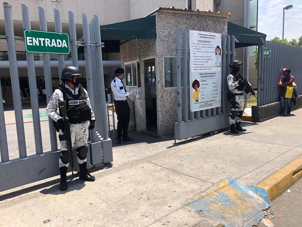 Resguarda Guardia Nacional Hospital de La Margarita